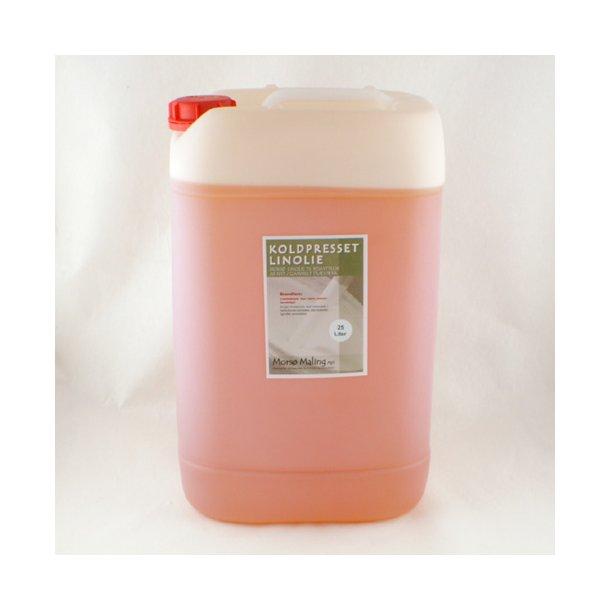 25 liter Koldpresset linolie.