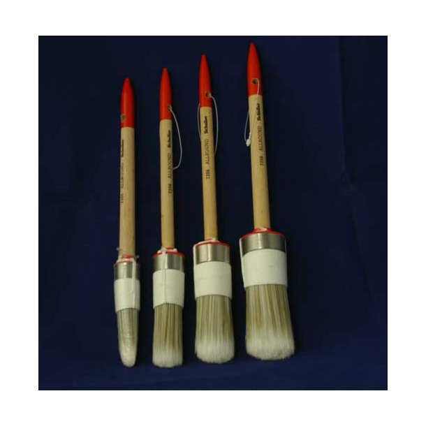 Rund allround pensel  20, 25, 30 eller 35 mm.
