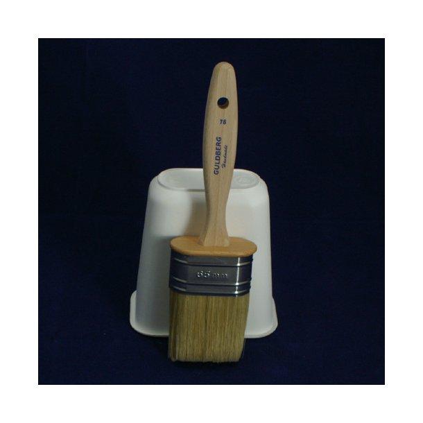 Guldberg Oval  pensel  45, 55 og 65 mm. Svinebørster