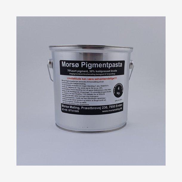 Sort pigmentpasta 4 kg.